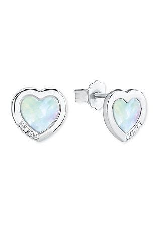 Zilveren oorknopjes hartje