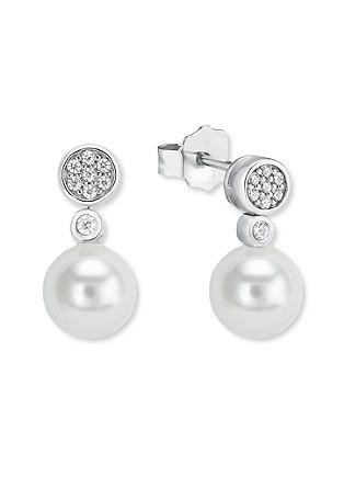Silber-Ohrringe Muschelkernperle