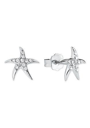 Zilveren oorknopjes zeester