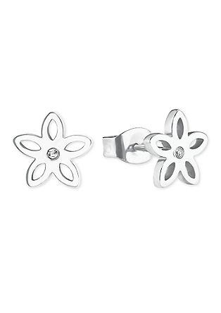 Edelstahl-Ohrringe Blume