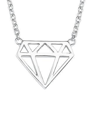 Halskette Diamond-Motiv aus Silber