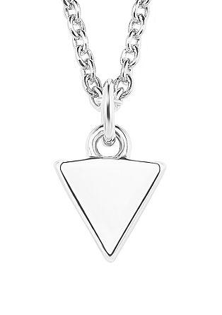 Halsketting driehoek van zilver