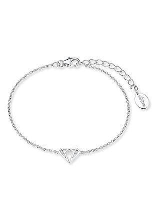 Armband Diamond-Motiv aus Silber