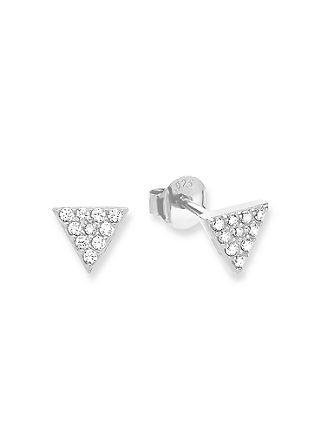 Ohrringe Dreieck aus Silber