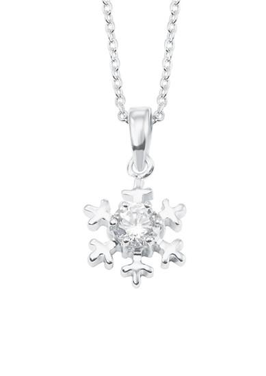 Halskette 'Schneeflocke' aus Silber
