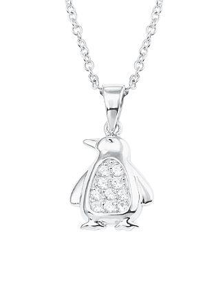 Halskette 'Pinguin' aus Silber