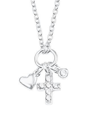 Halskette 'Herz und Kreuz' aus Silber