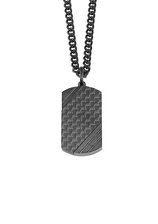 Ogrlica iz karbona in legiranega jekla