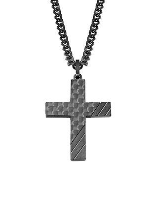 Halskette aus Carbon und Edelstahl
