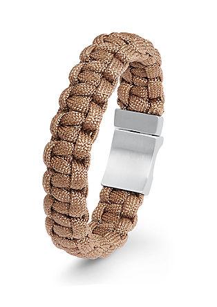 Flechtarmband aus Nylon mit Edelstahl