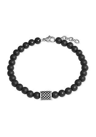 Armband aus Onyx mit Edelstahl