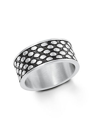Edelstalen two-tone ring