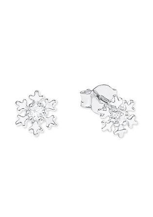 Srebrni uhani »snežinka«