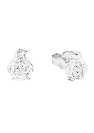 Ohrringe 'Pinguin' aus Silber