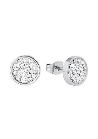 Runde Ohrringe mit Swarovski-Kristallen