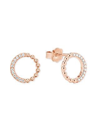 Ohrringe mit Zirkonia-Ring