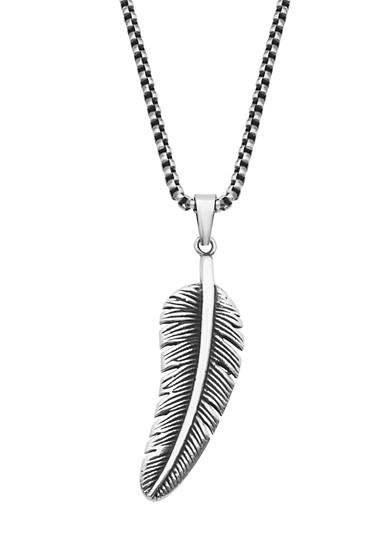 Halskette mit Federanhänger