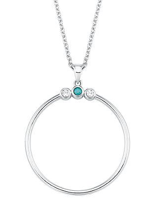 ogrlica z okroglim obeskom