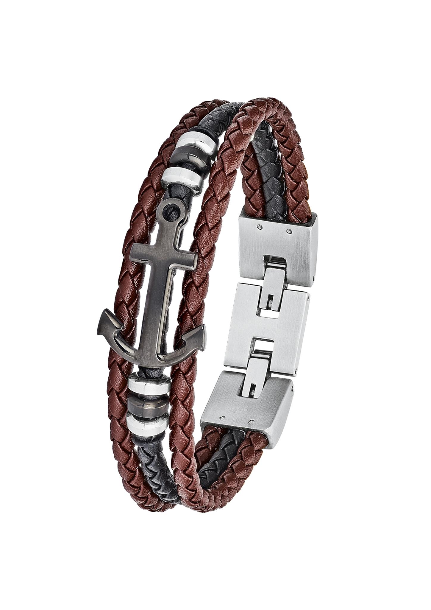 Armband | Schmuck > Armbänder | Brown | silver | Edelstahl| ip black | s.Oliver