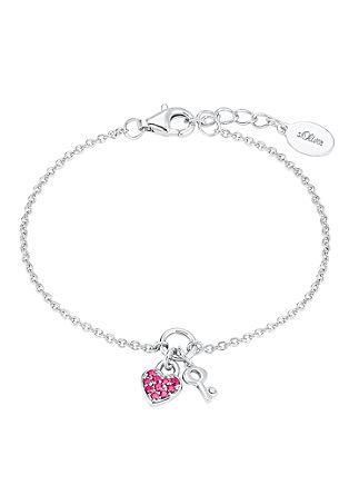 Armband met hanger van hartje en sleuteltje