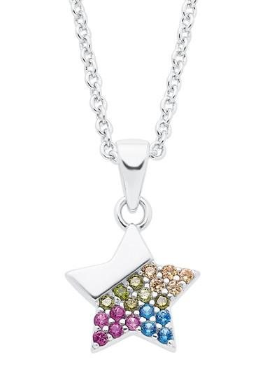 Silber-Halskette mit Zirkonia