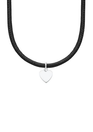 Halskette aus Leder und Edelstahl