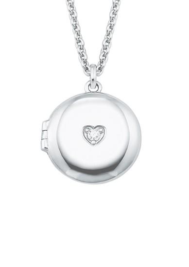 Silber-Halsschmuck mit Medaillon