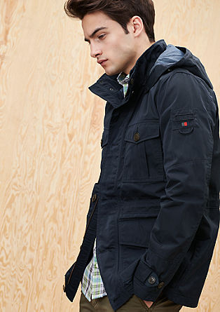 Fieldjacket aus Nylon-Twill
