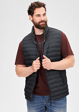 Lightweight down body warmer from s.Oliver