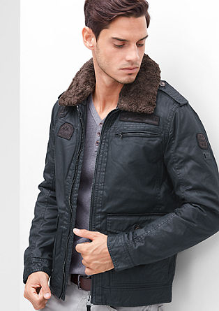 Faux leather aviator jacket from s.Oliver