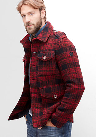 Jacket with a check pattern from s.Oliver