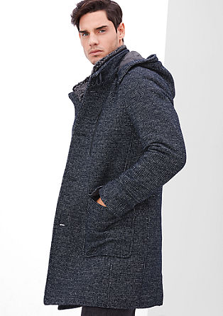 Fashionable coat with a plush collar from s.Oliver