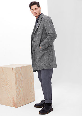 Leicht wattierter Wollmix-Mantel