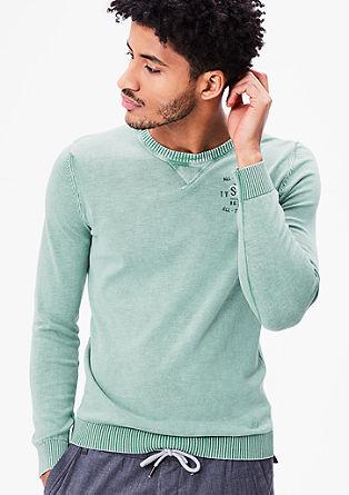 Pullover in Pigment Dye-Optik
