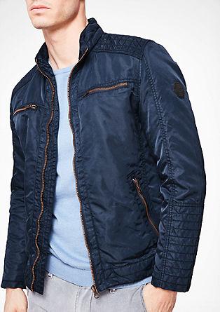 Wattierte Jacke im Bomber-Look