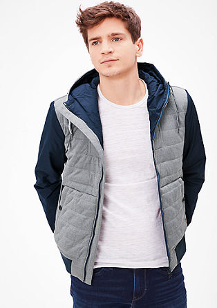 Thermore quilted jacket with contrasts from s.Oliver