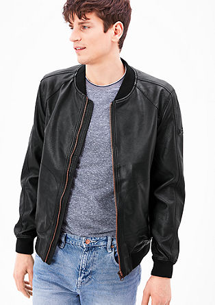 Leather-look bomber jacket from s.Oliver