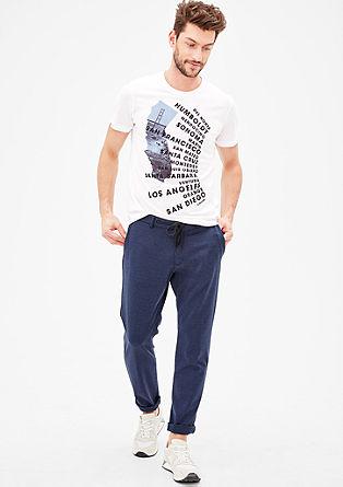 Majica iz džersija s počitniškim potiskom