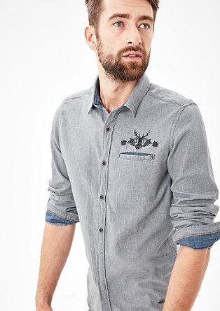 Slim: Leichtes Baumwollhemd