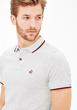 Poloshirt mit Kontrast-Details