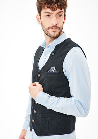 Waistcoat in a traditional look from s.Oliver
