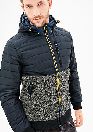 Outdoor-Jacke im Materialmix