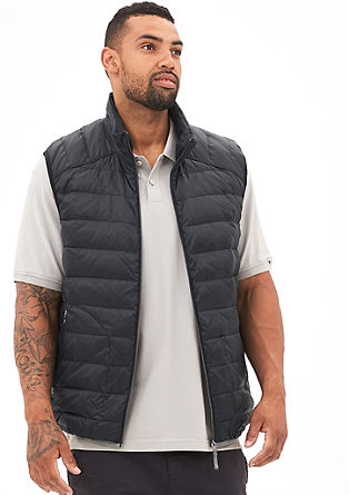 Light and sporty down quilted body warmer from s.Oliver