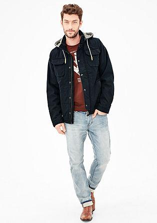 Wattierte Jacke aus Baumwoll-Canvas