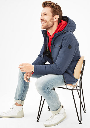 Short quilted jacket with a hood from s.Oliver