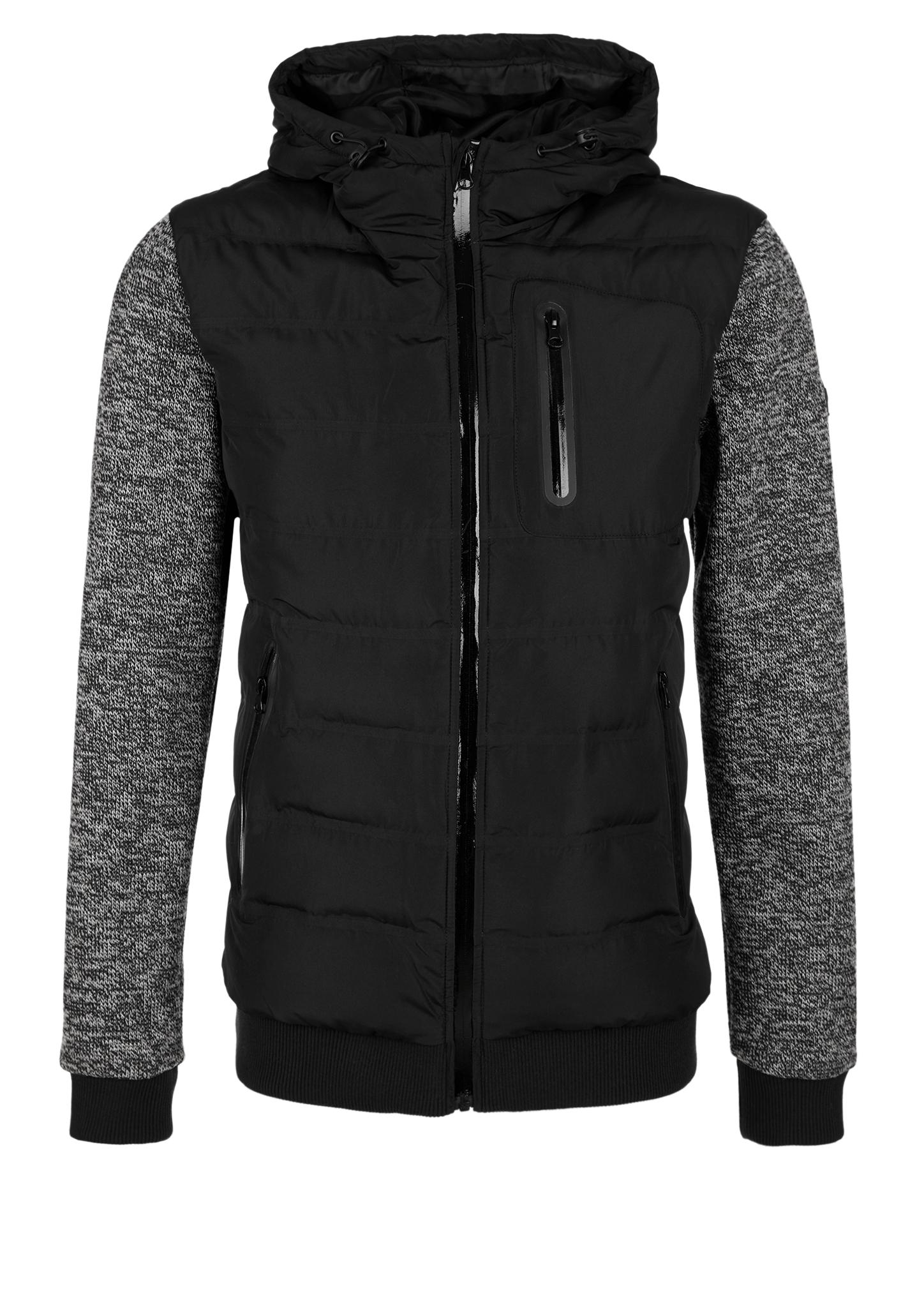 Outdoor-Jacke | Sportbekleidung | Grau/schwarz | Obermaterial 100% polyester| manschetten/bund 65% polyester -  35% baumwolle -  obermaterial b 100% polyester futter 100% polyester| füllmaterial 100% polyester | s.Oliver