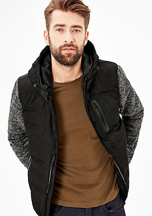 Quilted jacket with knit sleeves from s.Oliver