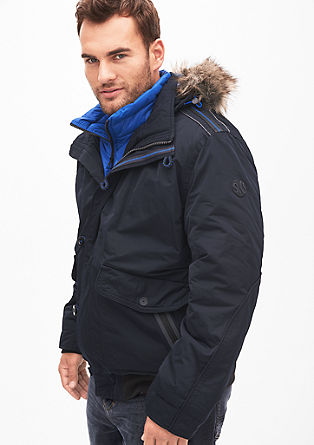 Winter jacket with fake fur from s.Oliver