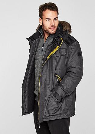Zimska jakna s polnilom in kontrastnim dizajnom