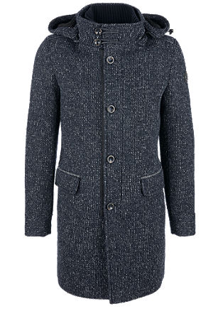 Melange wool coat with padding from s.Oliver